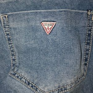 Used low rise skinny Guess jeans